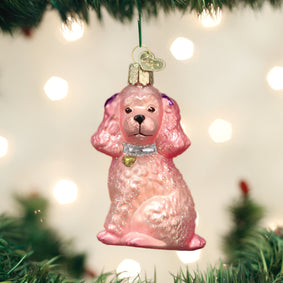 Pink Poodle Ornament