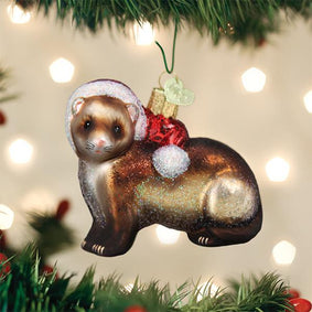 Christmas Ferret Ornament