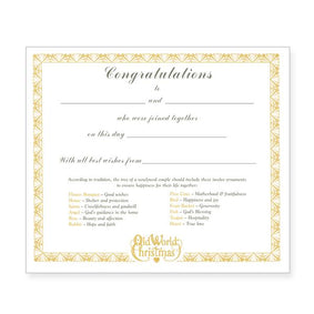 Bride's Collection Certificate