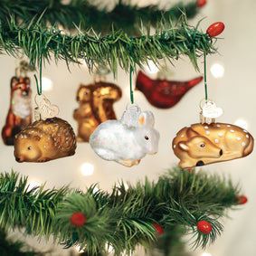 Mini Woodland Animal Ornament Set