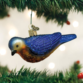 Hanging Western Bluebird Ornament