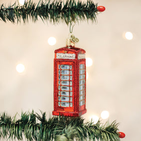 English Phonebooth Ornament