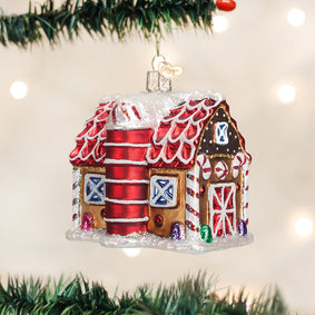 Gingerbread Barn Ornament