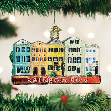 Rainbow Row Ornament
