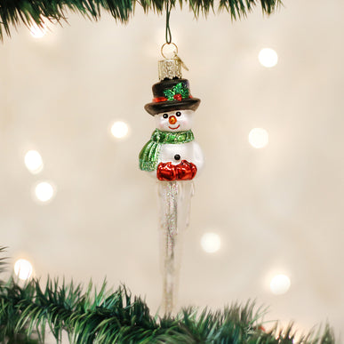 Icicle Snowman Ornament