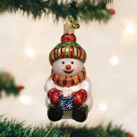 Snowman With Cocoa Ornament