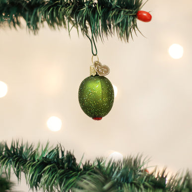 Stuffed Green Olive Ornament