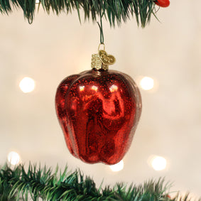 Red Delicious Apple Ornament