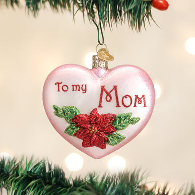 Mom Heart Ornament