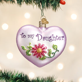 Daughter Heart Ornament