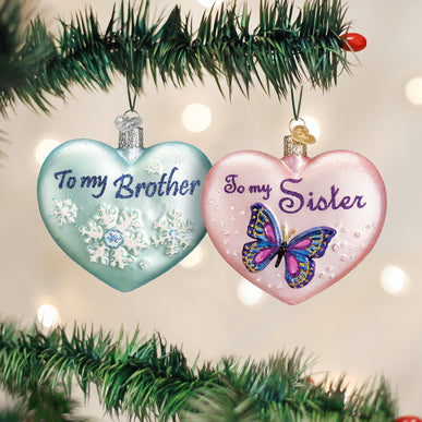 Sibling Heart (a) Ornament