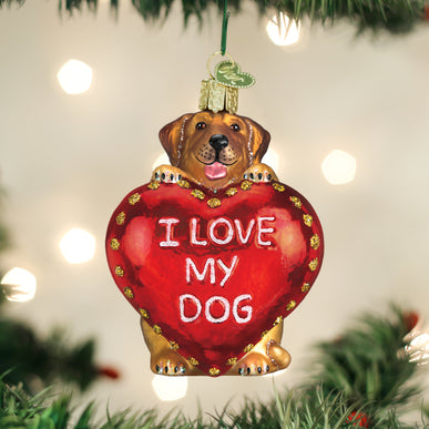 I Love My Dog Ornament