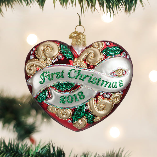 2018 First Christmas Heart Ornament