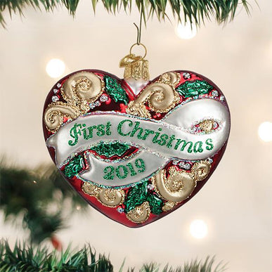 2019 First Christmas Heart Ornament