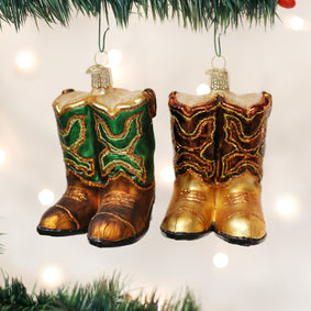 Pair Of Cowboy Boots Ornament