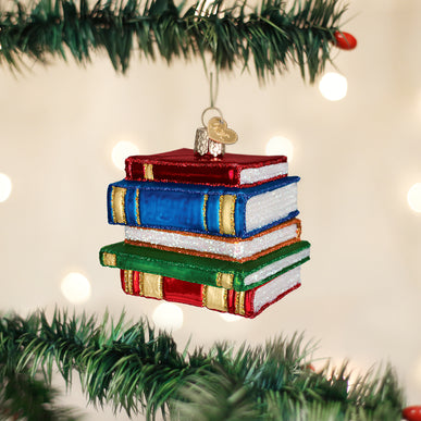 Stack Of Books Ornament