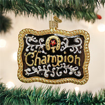 Champion Buckle Ornament