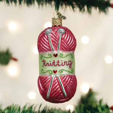 Knitting Yarn Ornament