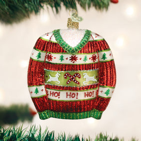 Festive Christmas Sweater Ornament