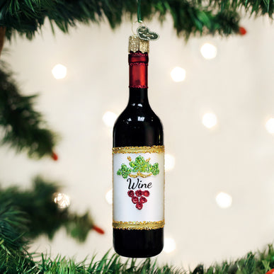 Red Wine Bottle Ornament