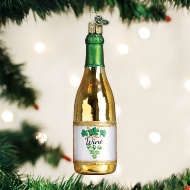 White Wine Bottle Ornament