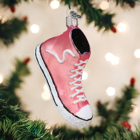 Pink High-top Sneaker Ornament