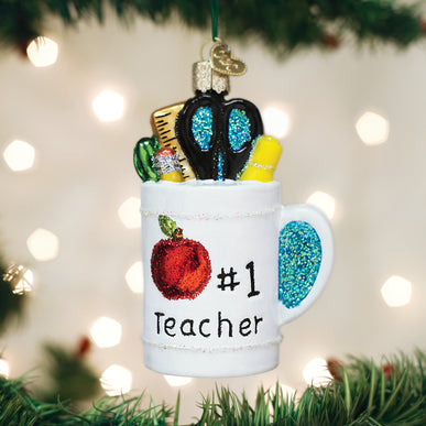 Best Teacher Mug Ornament