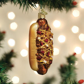 Chili Cheese Dog Ornament
