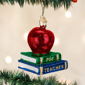 Teacher's Apple Ornament