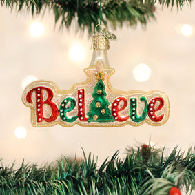 Believe Ornament