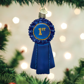 Blue Ribbon Ornament
