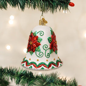 Poinsettia Bell Ornament