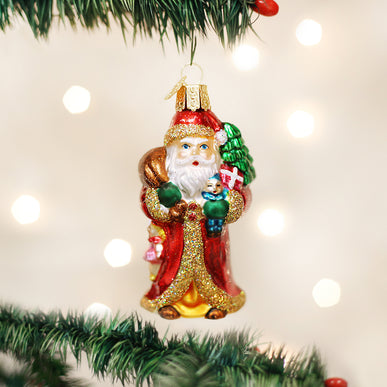 Father Christmas W/gifts Ornament
