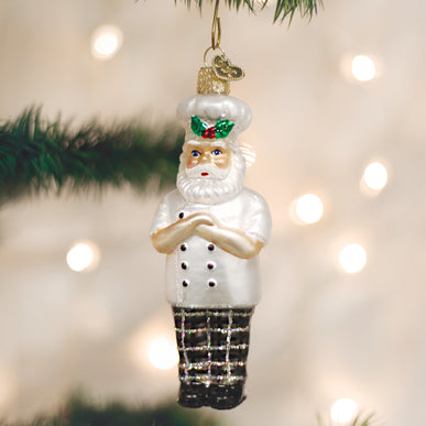 Santa Chef Ornament