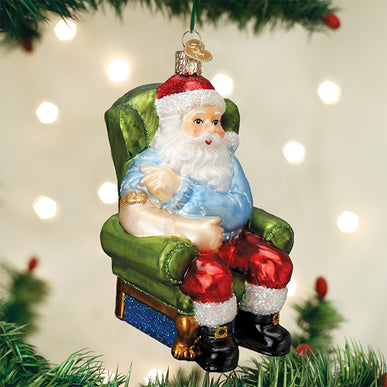 Santa Claus Covid Vaccinated Ornament