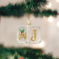 Joy Block Ornament