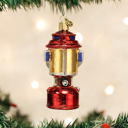 """46062 /""""Bass Boat/"""" X Old World Christmas Glass Ornament"""