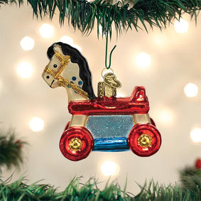 Rolling Horse Toy Ornament