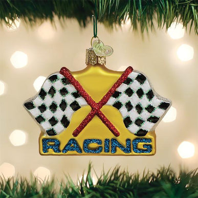 Racing Flags Ornament
