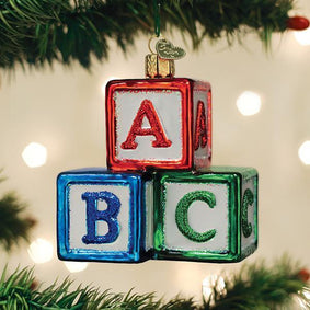 Abc Blocks Ornament