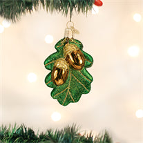 Oak Leaf With Acorns Ornament