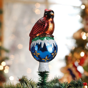 Cardinal Tree Top Ornament