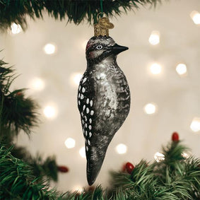Vintage Hairy Woodpecker Ornament