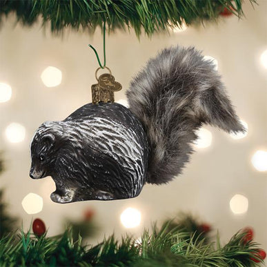 Vintage Skunk Ornament