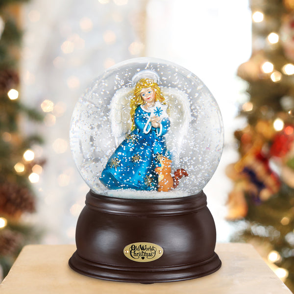 Snowflake Angel Snow Globe