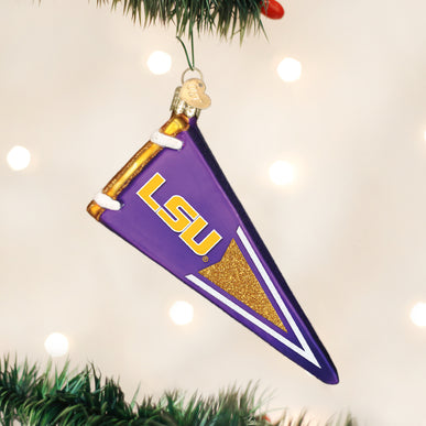 LSU  Pennant Ornament