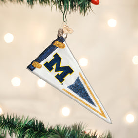 Michigan Pennant Ornament