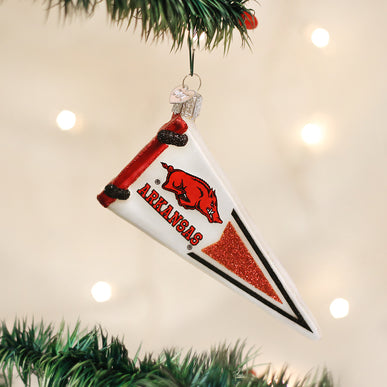 Arkansas Pennant Ornament