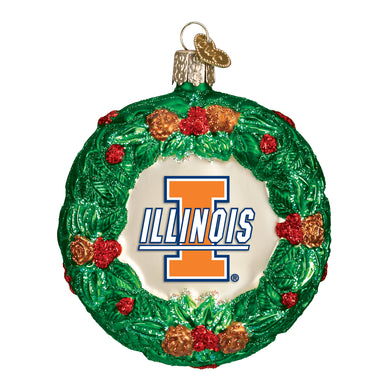 Illinois Wreath Ornament