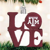 Texas A&M Love Ornament